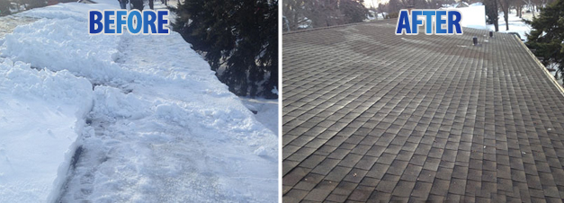 Roof Snow & Ice Dam Removal